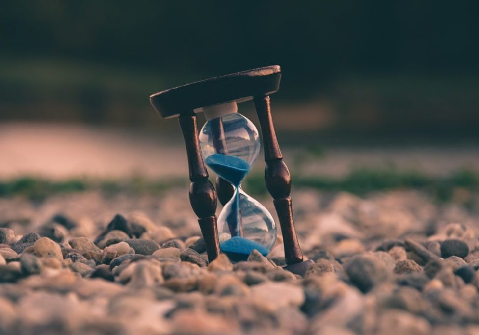 hourglass in the sand