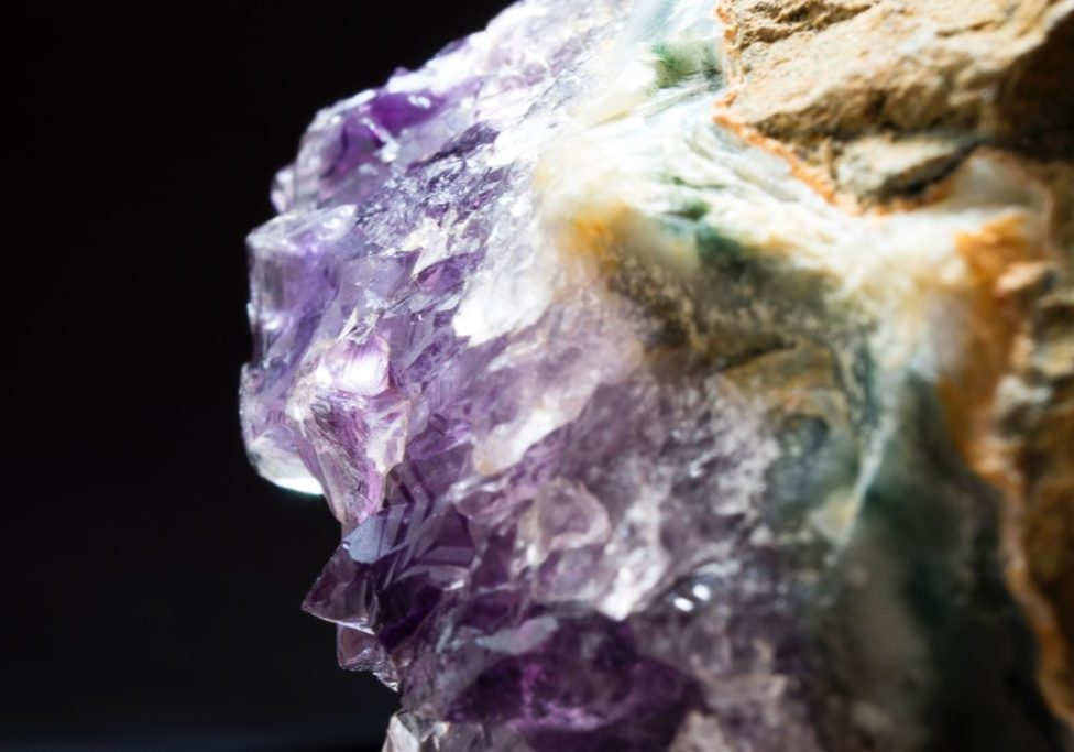 amethyst geode up close